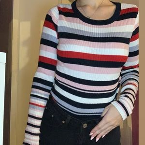 H&M: Color Striped Long Tee